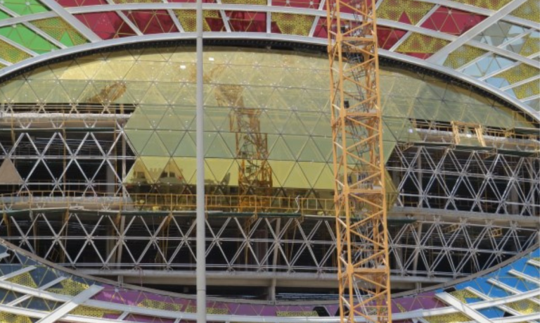 Spaceframe and glass